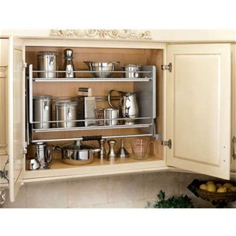rev kitchen cabinets rev a shelf premiereinch pull down shelving system for