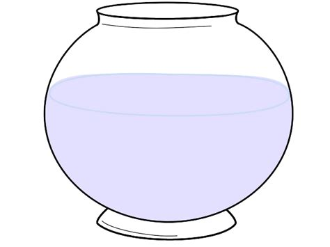 empty fish bowl coloring page bowl coloring clipart best