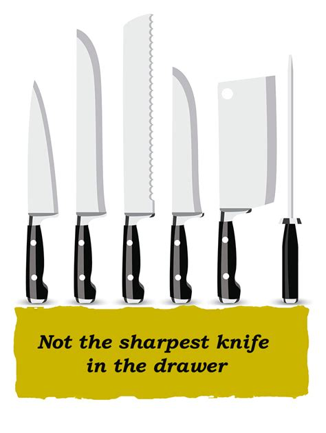 The Sharpest Knife In The Drawer by Idioms Not The Sharpest Knife In The Drawer Speakup