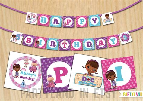 doc mcstuffins free printable birthday banner doc mcstuffins birthday party ideas photo 1 of 10