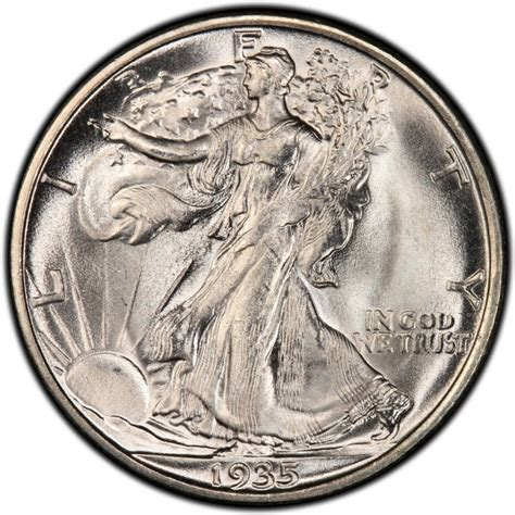 1935 walking liberty half dollar values and prices past sales coinvalues com