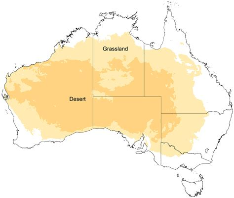 australian desert map desert and grassland map of australia mapsof net