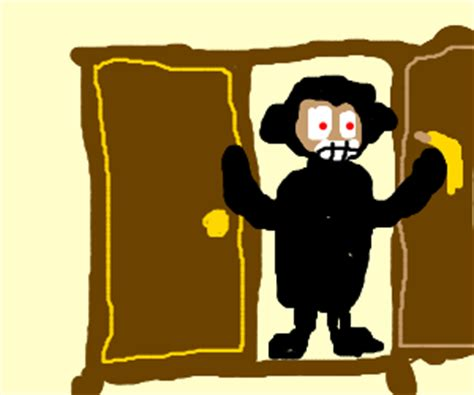 Family Monkey In Closet by Evil Monkey From Family