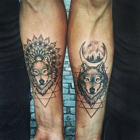 matching wolf tattoos wolf top 150 wolf tattoos so far this year
