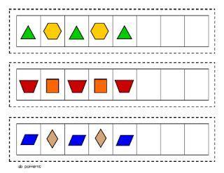 pattern math stations free printable pattern block patterning strips math