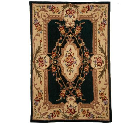 qvc area rugs royal palace royal palace se savonnerie 5 x 7 6 quot handmade wool rug h202387 qvc