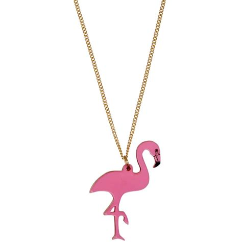Tatty Devines Ss07 Jewellery Collection Available Now by Tatty Pink Flamingo Necklace At Jewellery4