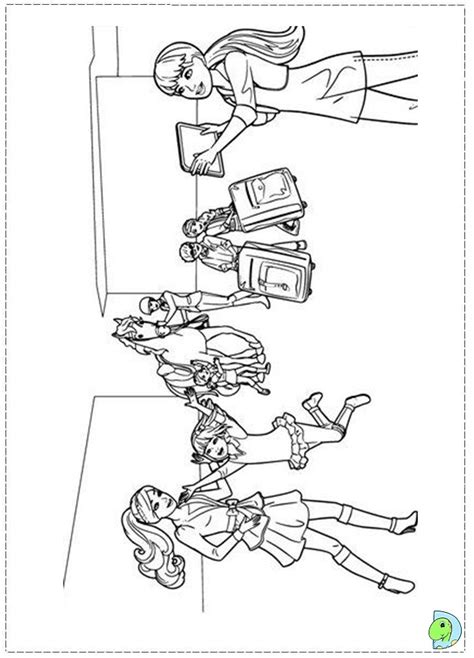 coloring pages of barbie and her sisters free barbie and her sisters coloring pages