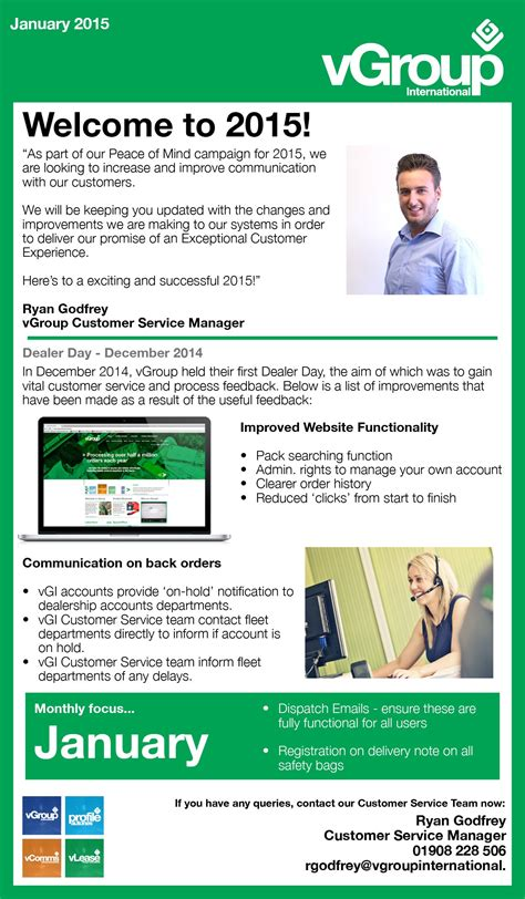 Customer Newsletter Newsletters