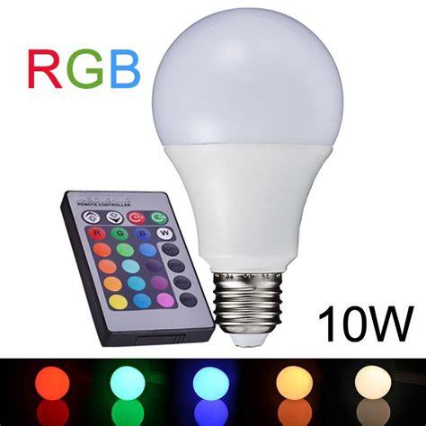 Lu Led 10w Rgb Remote best new e27 10w rgb led l 110v 220v change rgb led