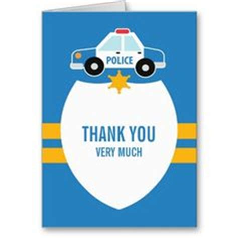 printable thank you card for police officer 1000 images about police themed kids party on pinterest