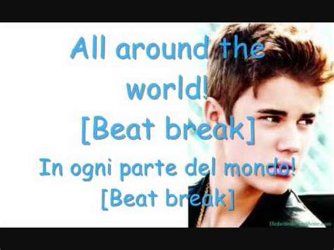 around the world testo all around the world justin bieber ft ludacris testo