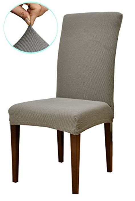 Gray Dining Room Chair Slipcovers Subrtex Knit Stretch Dining Room Chair Slipcovers 4 Gray