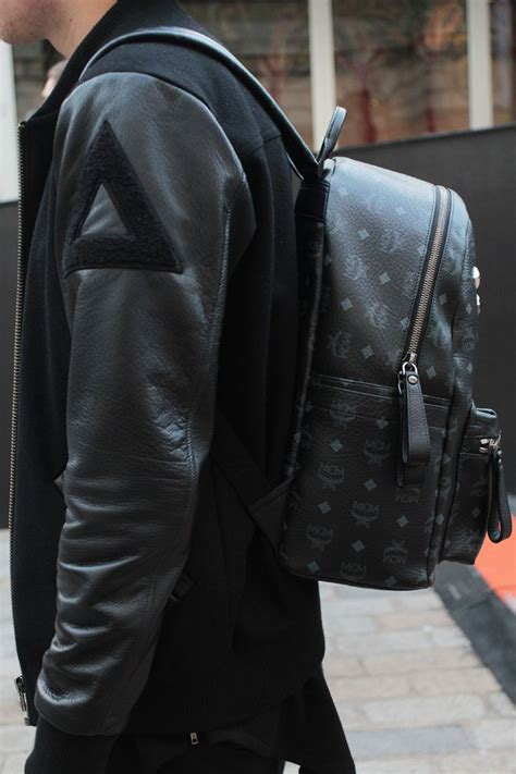 mcm backpack black on black mens fashion stuff to