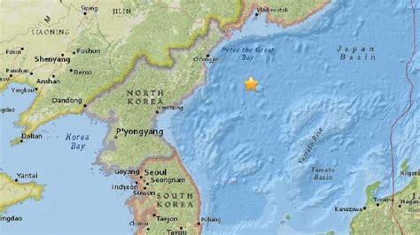 earthquake korea rare m5 8 earthquake strikes off north korea in the sea of