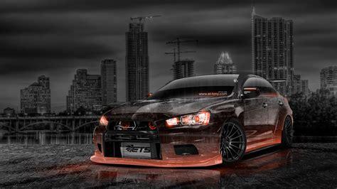 jdm tuner cars mitsubishi lancer evolution x tuning jdm crystal city car