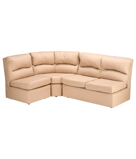 beige l shaped couch elzada l shaped sofa in beige buy online at best price in