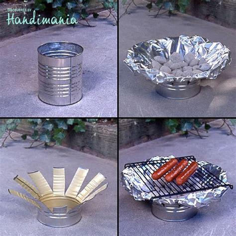diy crafts with tin cans tin can grill diy bbq grill crafts