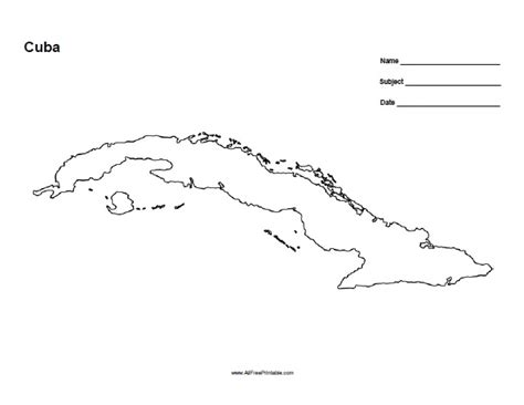 printable map havana cuba outline map free printable allfreeprintable com