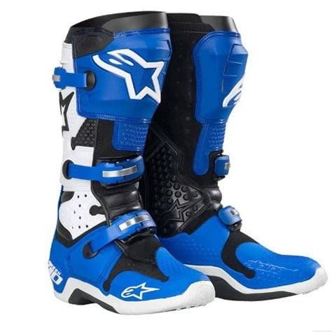 blue motocross boots alpinestars tech 10 motocross moto tech
