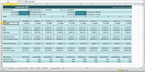 property management spreadsheet template excel investment property spreadsheet real estate excel roi