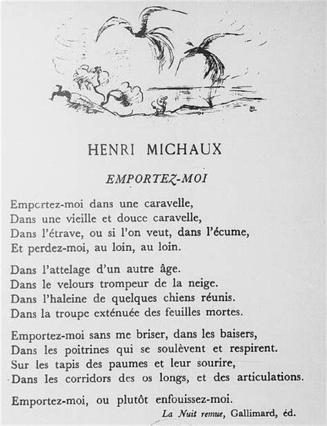 Henri Michaux - Emportez-moi | Poésie | Pinterest