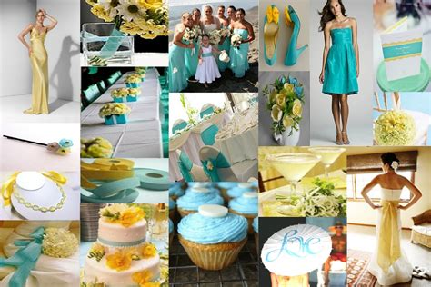 yellow and white with teal your wedding support get the look teal lemon themed