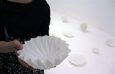 Origami Pottery - lexus design award 2013 porcelain origami by igarashi