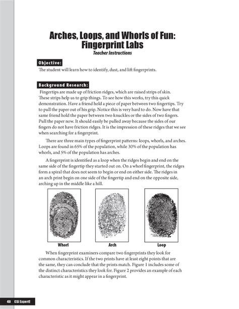 forensic science forensic science activities for