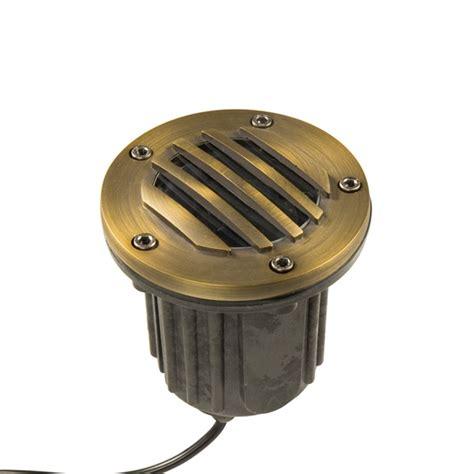 brass bully grate mr16 well light low voltage landscape
