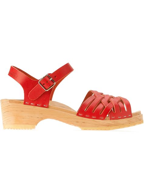 clogs sandals for swedish hasbeens braided clog sandal in lyst