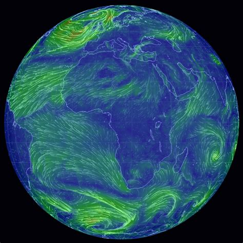 earth weather map hypnotic wind map captures earth s heavenly currents the