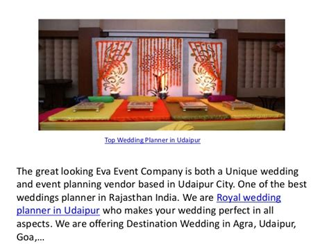 Top Wedding Planning by Top Wedding Planner In Udaipur
