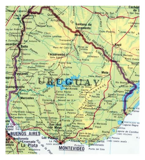 map of us states unmarked map of uruguay 28 images large detailed road map of