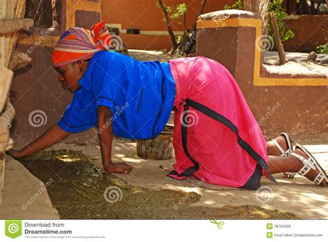 south african house music 2008 african woman covered floor of house in manure editorial stock photo image 38704328