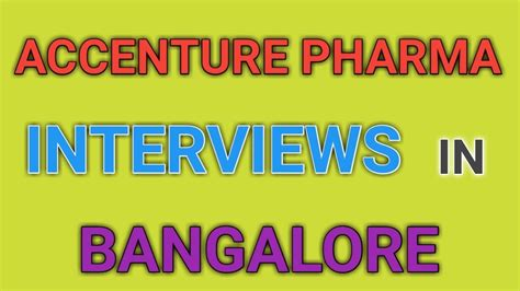 Walk In In Bangalore For Mba Freshers by Accenture Pharma Walk In Interviews For Freshers In