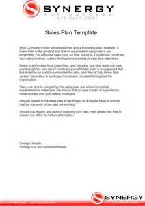 sales business plan template sales plan template free word form pdf documents