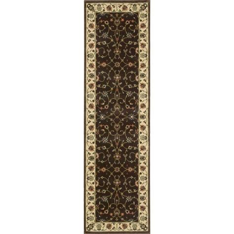 12 foot runner rugs nourison arts chocolate 2 ft 3 in x 12 ft rug runner 690074 the home depot