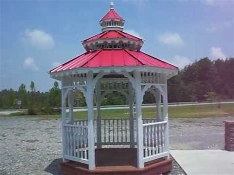 How To Build A Cupola Roof by 8x8 Octagonal Gazebo With Cupola Metal Roof