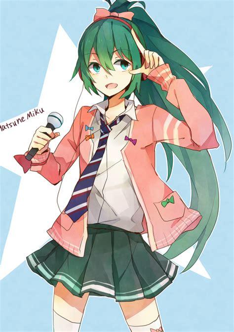 anime ribbon hairstyles hatsune miku vocaloid mobile wallpaper 1223557