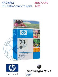 Tinta Printer Hp No 21 Cartucho De Inyecci 243 N De Tinta Negro Hp N 176 21 Para Hp Deskjet 3920 3940 Hp Printer Scanner