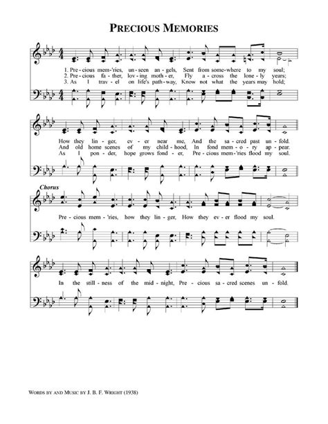 printable lyrics to precious memories hymn precious memories music lyrics pinterest