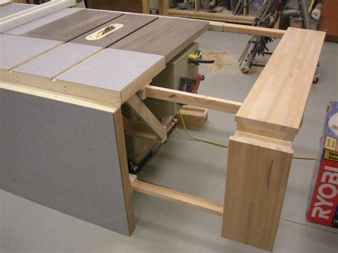 table saw work bench table saw bench plans folding sliding table saw extension wing by screwge