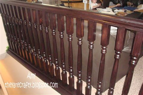 how to restain banister they are crafty restain your banister wood trim