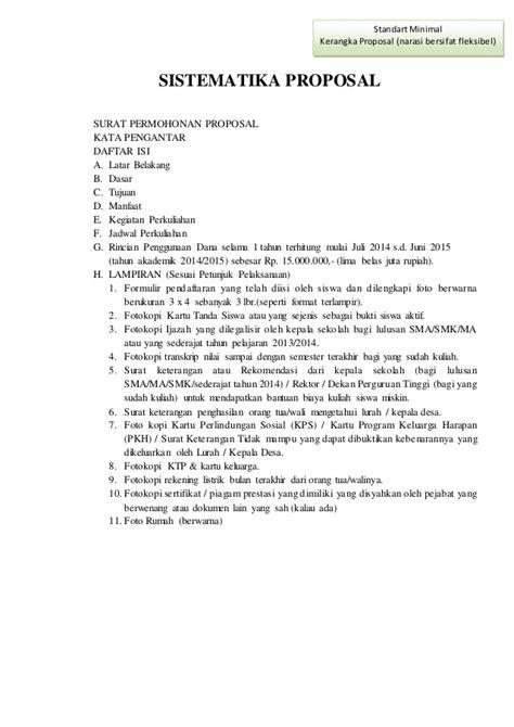 format daftar isi proposal format proposal beasiswa sma sederajat
