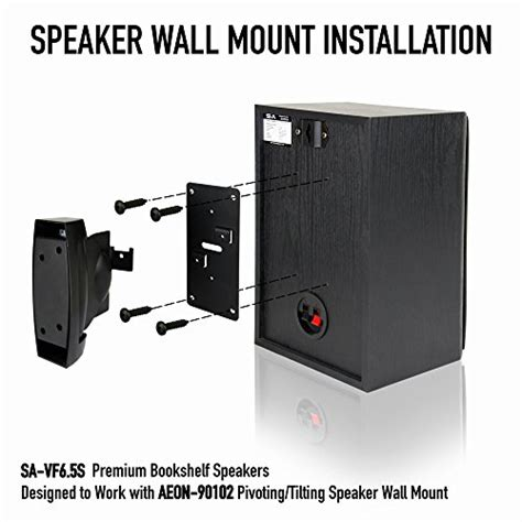 heavy duty speaker wall mount for bookshelf large or