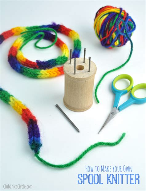 spool knitting how to make your own spool knitter