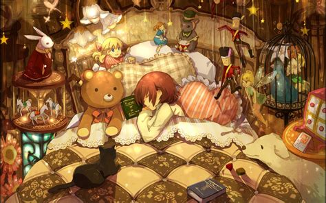 libro sleeping beauty earlyreads beds toys children books sleeping artwork anime anime girls wallpaper 1920x1200 309319