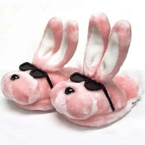 mens pink bunny slippers blah blah reviews june 2009