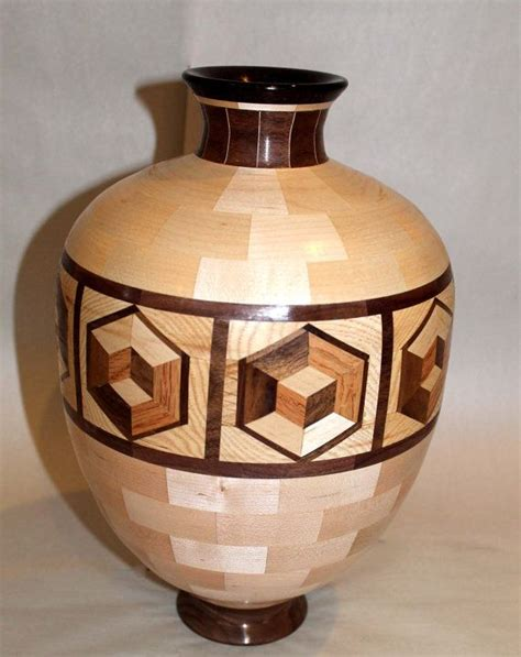cube ring wooden bowl segmented turning wood turning